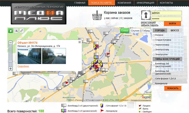 Яндекс. Карты API для сайта