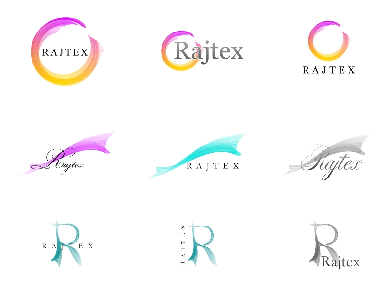 Лого для сайта-визитки тканей