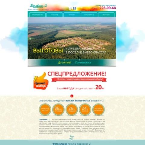 "Создание лендинга для поселка ""Боровики-2"""