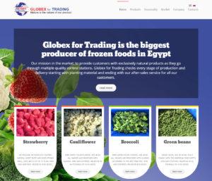 Создание сайта компании Globex for Trading на коммерческом шаблоне