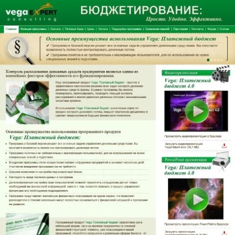 """Дизайн сайта и верстка """"ВегаЭксперт"""""""